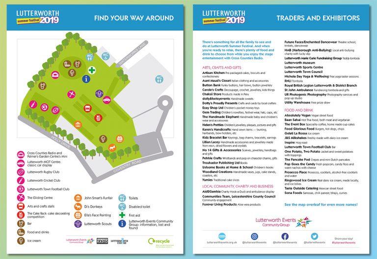 Lutterworth Summer Festival info flyer