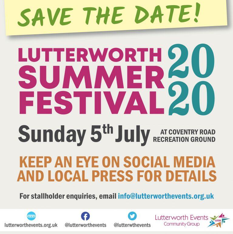 Lutterworth Summer Festival 'Save the Date'